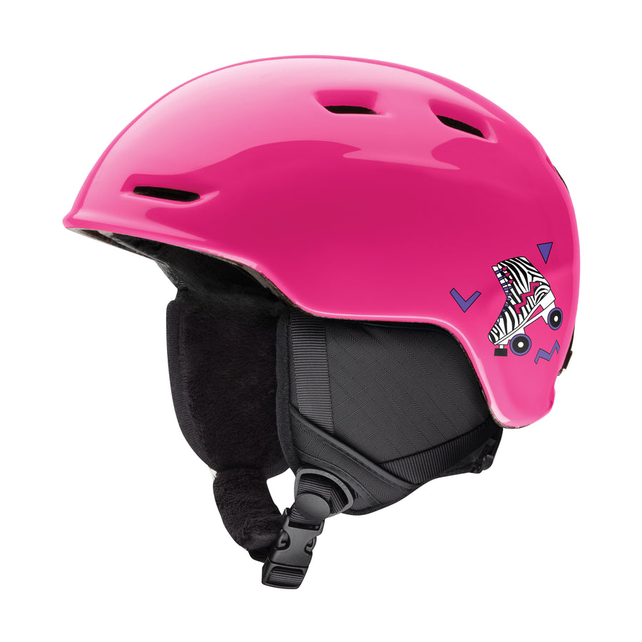 Smith Snow Helmet Zoom Jr. PINK SKATES
