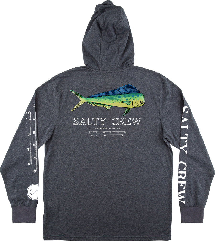 Salty Crew Angry Bull Hooded L/S Tech Tee