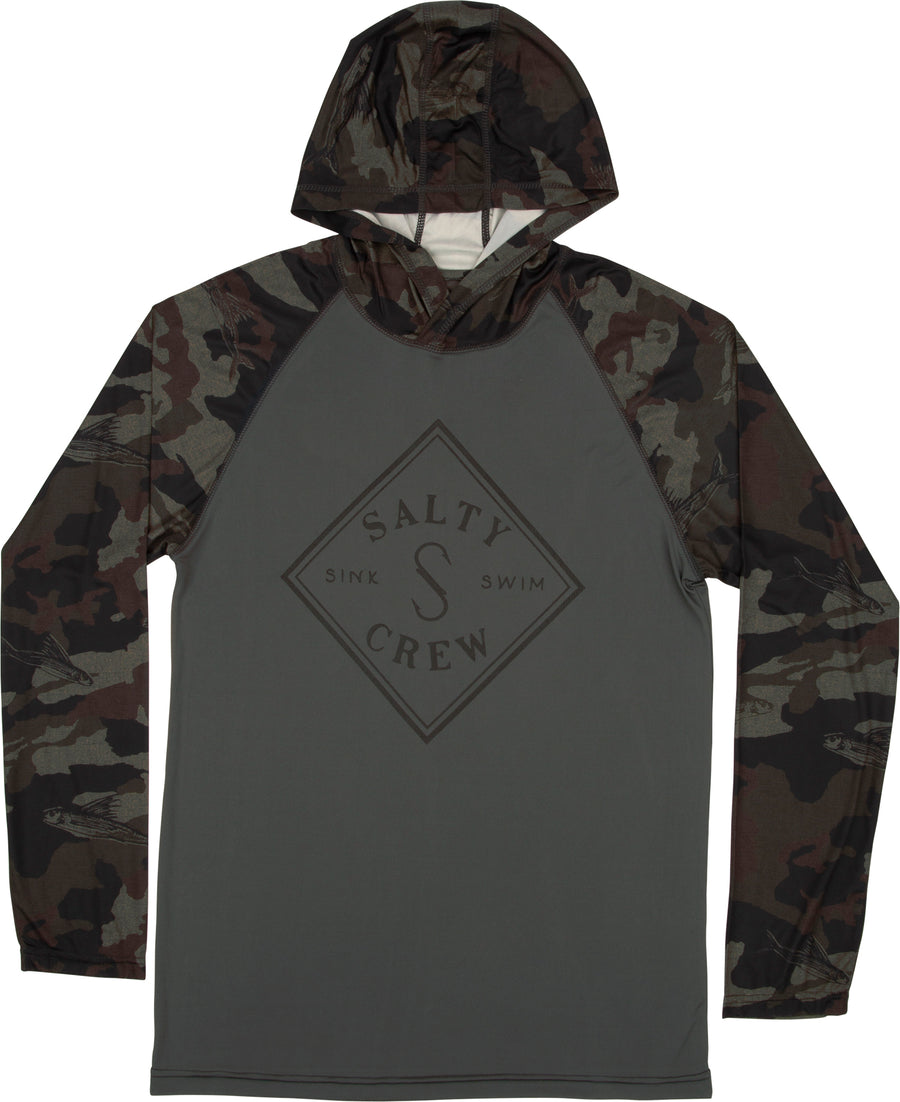 Salty Crew Tippet Pinnacle Tech Hooded L/S Tee
