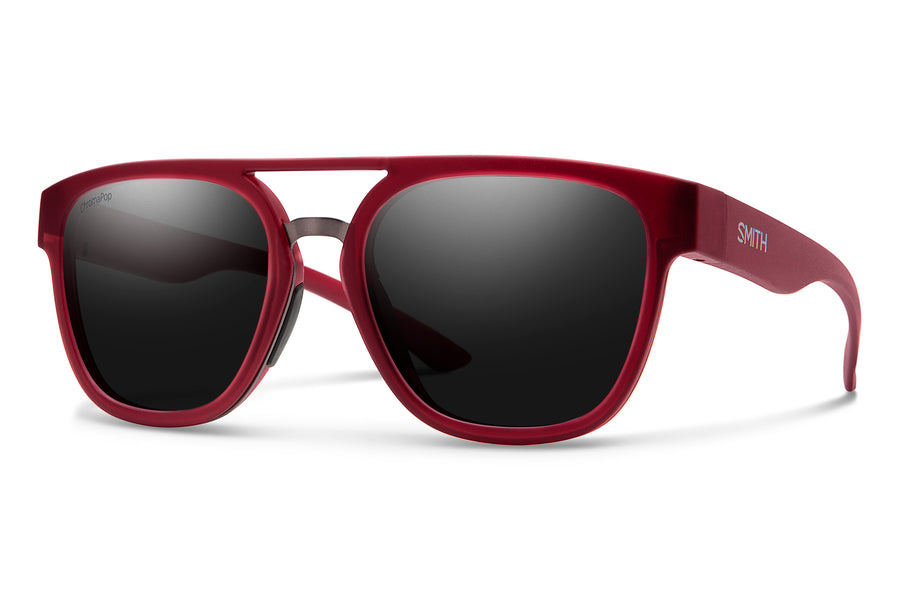 Smith Sunglasses Agency MATTE CRYSTAL DEEP MAROON
