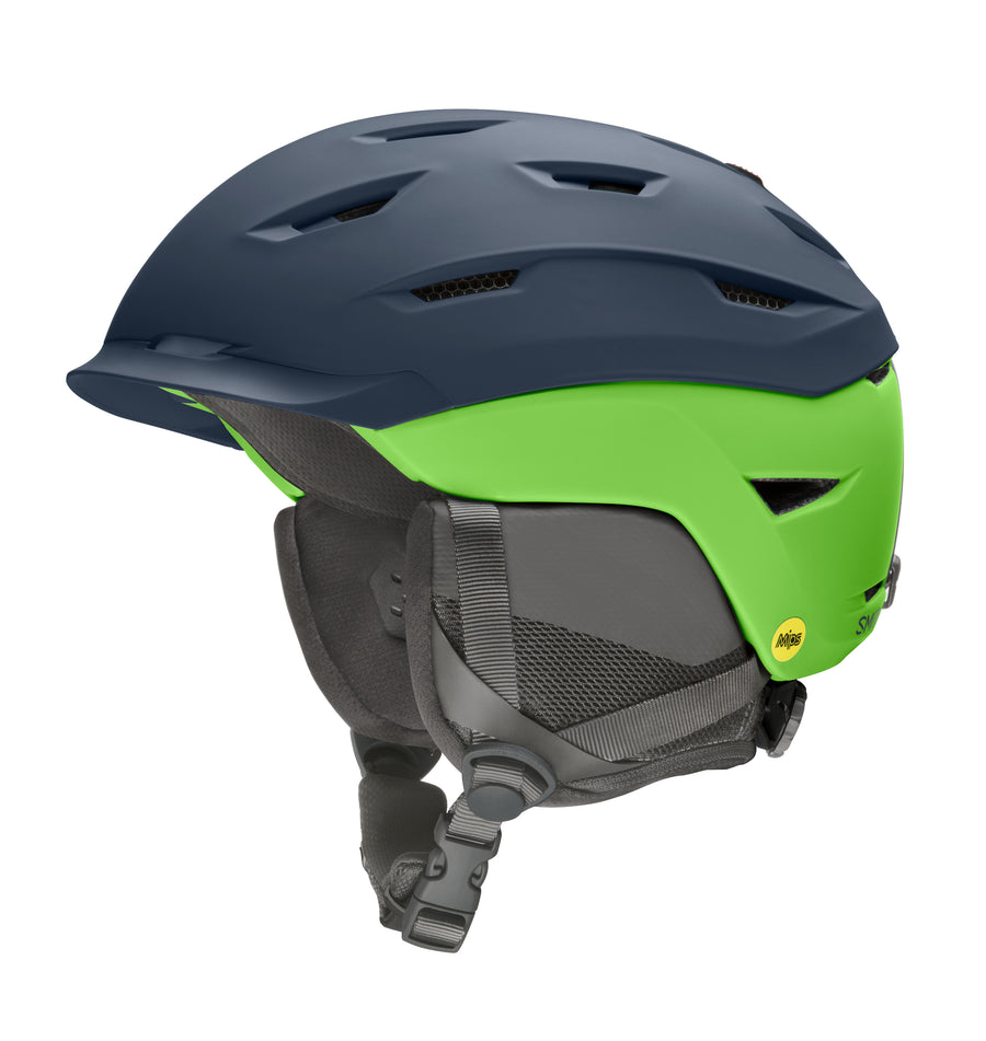Smith Snow Helmet Level Mips MATTE FRENCH NAVY LIMELIGHT