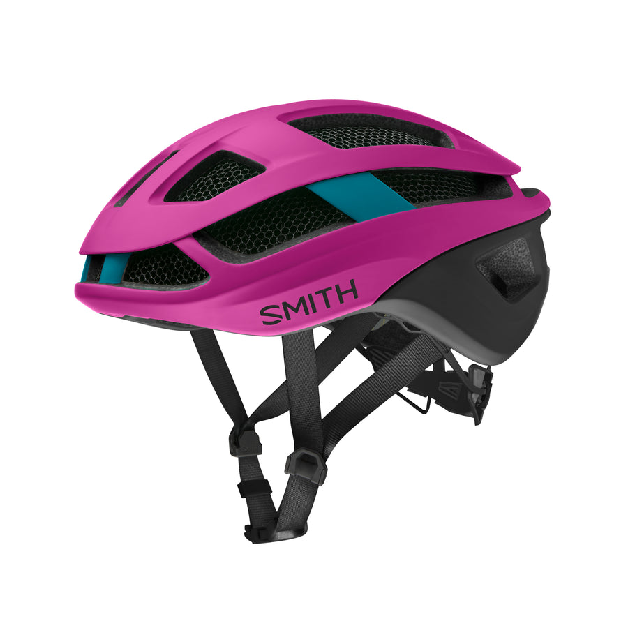 Smith Road Bike Helmet womens Trace Mips Matte Hibiscus / Black