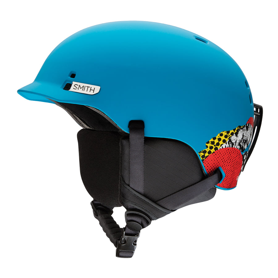 Smith Snow Helmet Gage Jr. MATTE CYAN BURNSIDE