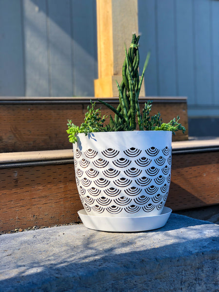 Pearly White BREATHE Aeration Planter