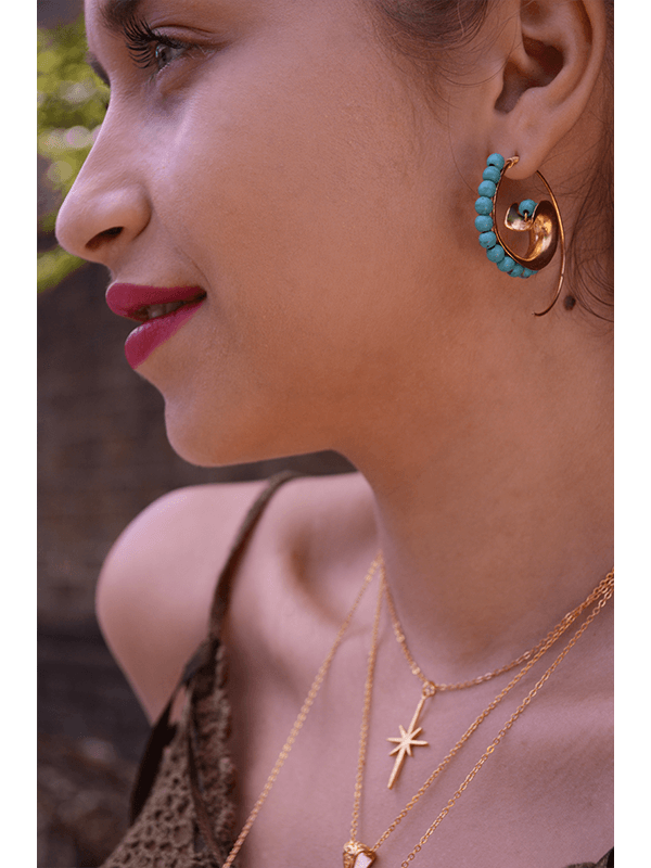 Ottoman Hands Festival Jewellery. Hoop earrings