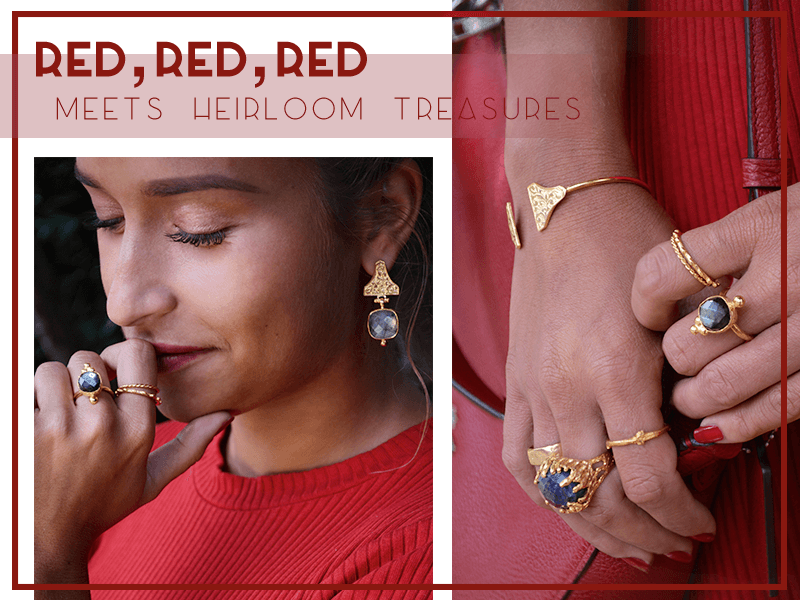 Red, Red, Red meets Heirloom Treasures