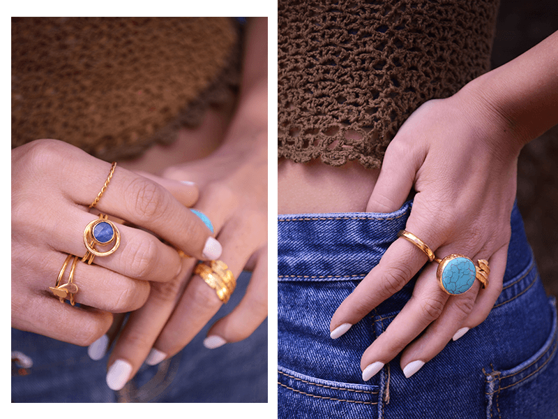 Ottoman Hands Festival Jewellery. Stacking Rings