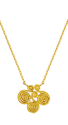 Air Symbol Gold Necklace