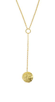 Coin Lariat Style Necklace
