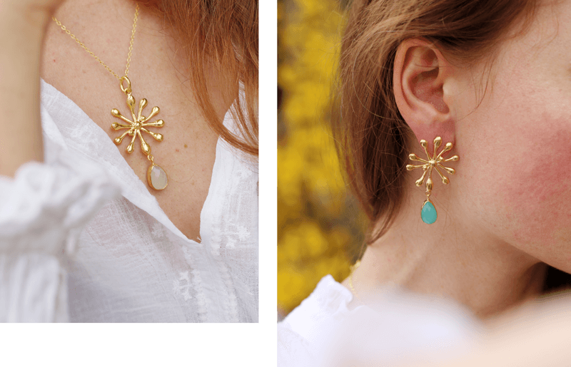 Dew Drop Necklace and Earrings