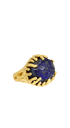 Lapis Coral Statement Ring