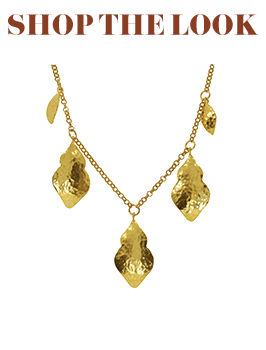 Chrysalis Hand Hammered Gold Necklace