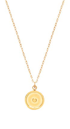 Small Gold Sun Necklace