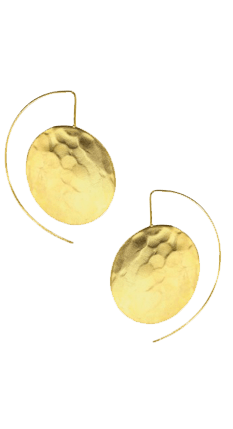 Statement Disc Wire Through Earrings