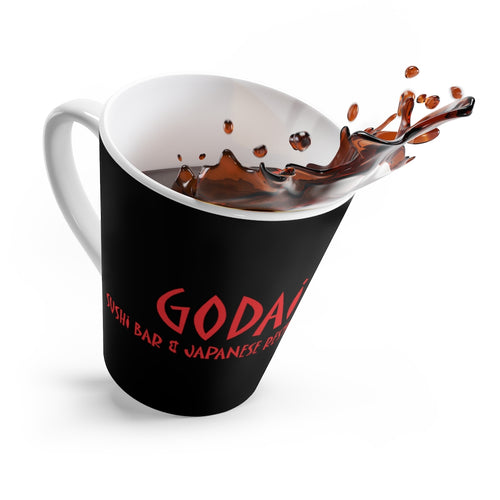Godai Sushi Logo on BLK Latte mug