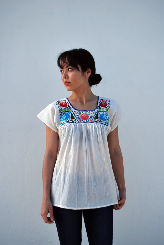Authentic Oaxacan Embroidered top