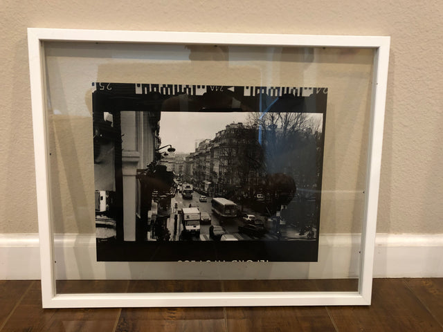 "Black and White Print ""Rue Monge"" by Nicole Briggs"