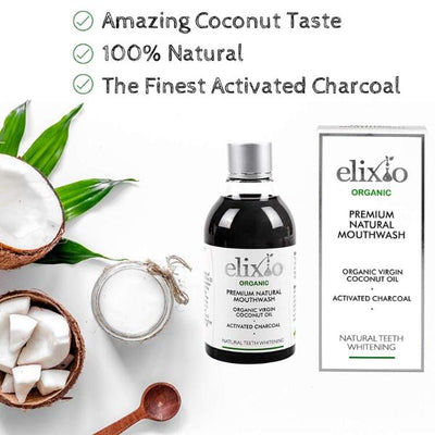 Coconut Oil Natural Mouthwash with Activated Charcoal
