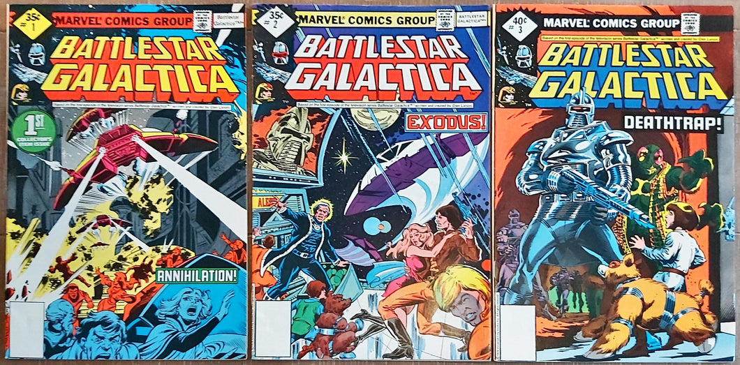 Battlestar Galactica #1-3 (1979) Marvel - HIGH Grade