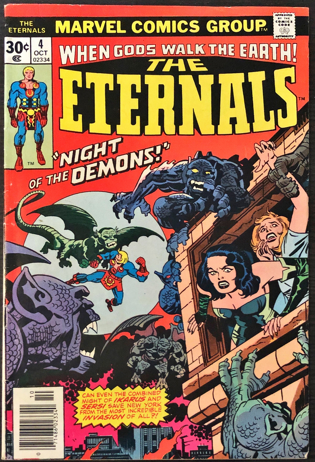 The Eternals #4 (1976) - MID/HIGHER Grade