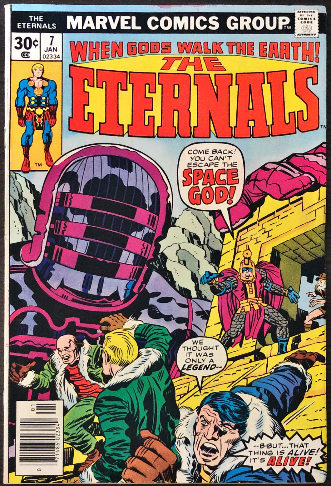 The Eternals #7 (1977) - HIGH Grade