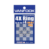 Vanfook Super Strong 4X Split Ring