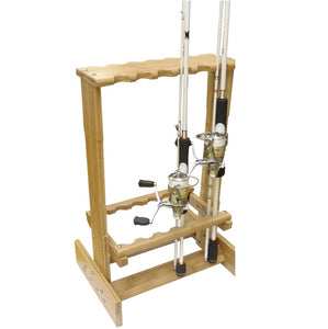 Bamboo Fishing Rod Stand RE