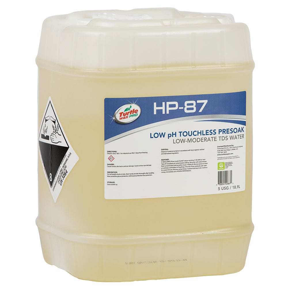 TWI HP 87 - Turtle Wax® Low pH Touchless Presoak Low to Moderate TDS Water