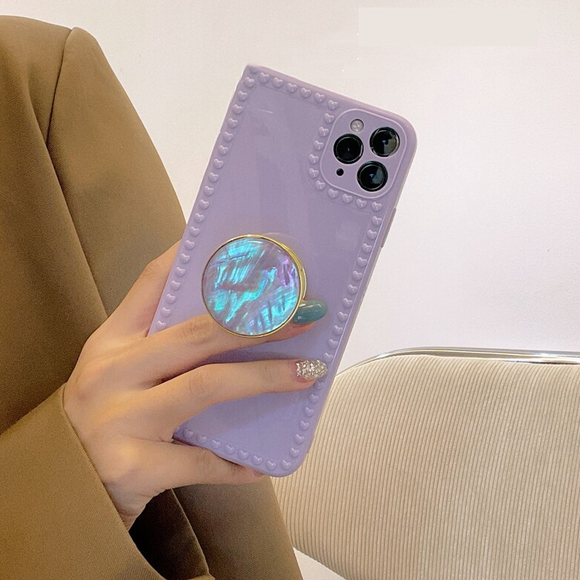Carcasa Purple con soporte para iPhone 12 y 12 Pro