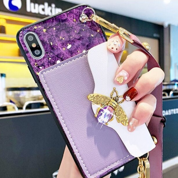 Carcasa abellie purple billetera para iPhone 11