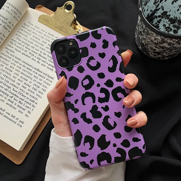 Carcasa Leopard Purple para iPhone 11 ProMax