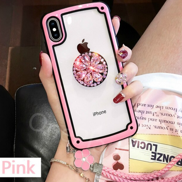 Carcasa Diamond Rose para iPhone XR