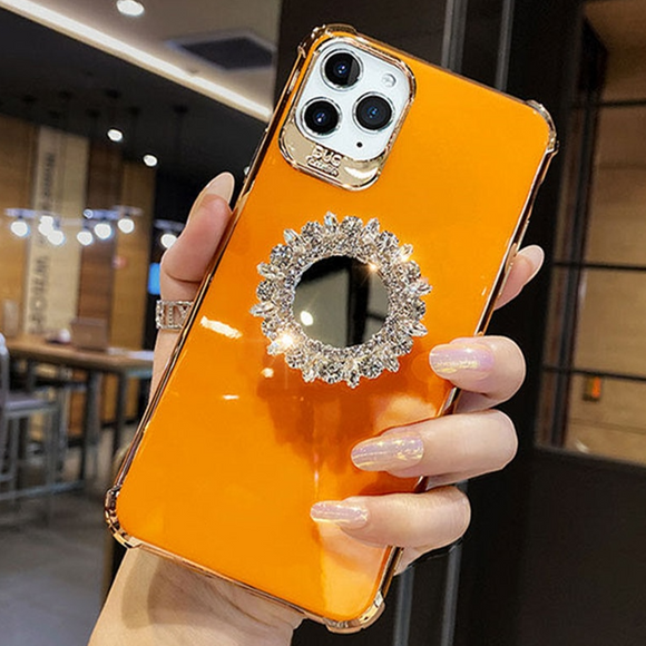 Carcasa Support en diamant orange para iPhone 11