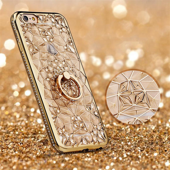 Carcasa de cristal gold para iPhone 7 y 8 Plus