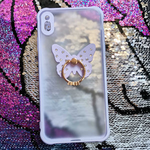 Carcasa Purple diamond Butterfly para iPhone XS Max