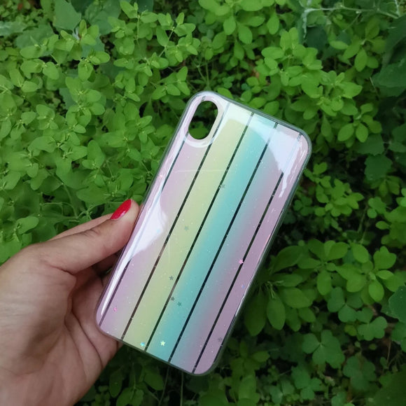 CAarcasa Arcoiris Rose para iPhone XR