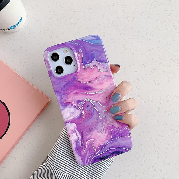 Carcasa Marmol de laser purple para iPhone 11