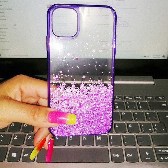 Carcasa Purple Glitter  para iPhone 11