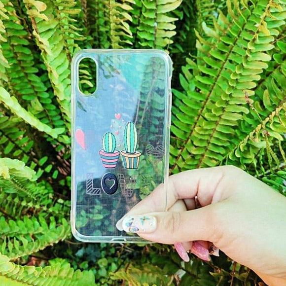 Carcasa cactus love para iPhone X y XS