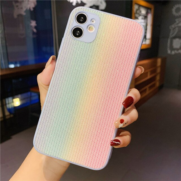 CAarcasa Arcoiris Rose para iPhone 12  y iPhone 12 Pro
