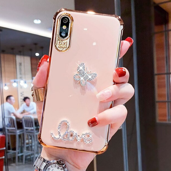 Carcasa Farfalla 3D diamond para iPhone X / XS