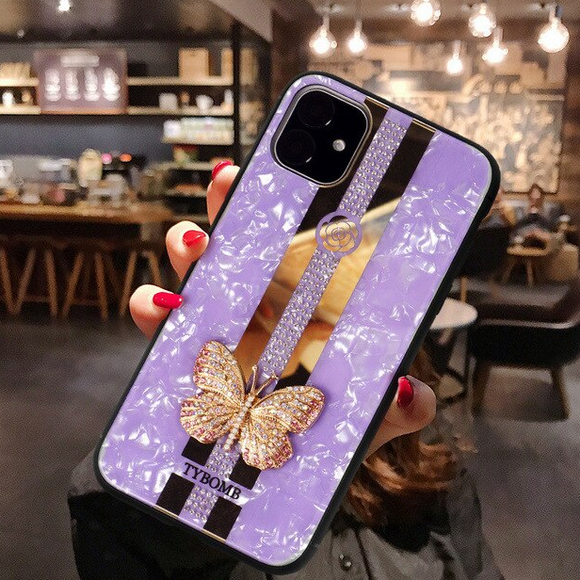 Carcasa fancy butterfly Purple para iPhone 12 Pro Max