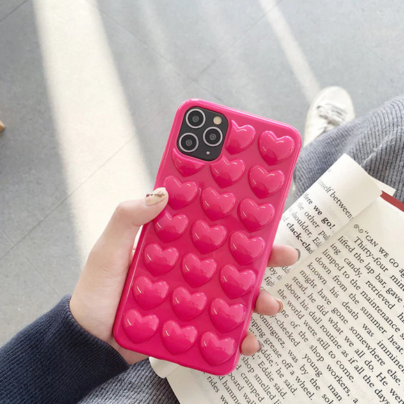 Carcasa Bubble Heart Pink  para iPhone 12 y iPhone 12  Pro
