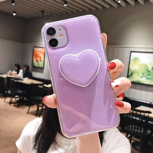 Carcasa  Doux Amour Lumineux Violet para iPhone 12 y iPhone 12 Pro