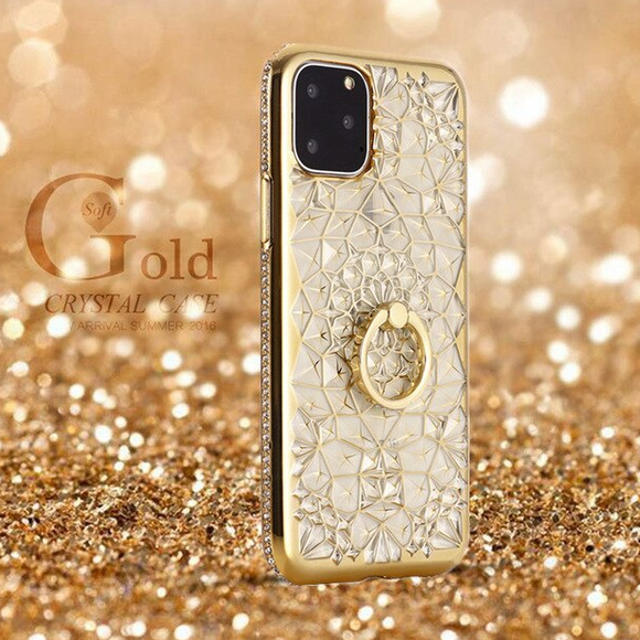 Carcasa de cristal gold para iPhone 11
