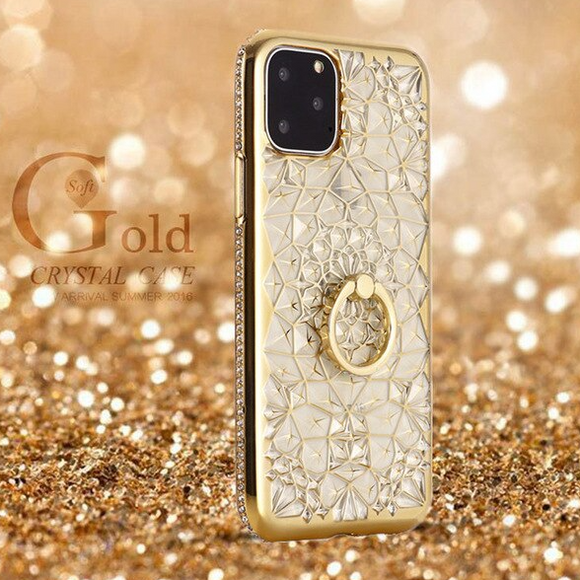 Carcasa de cristal gold para iPhone 12 Mini