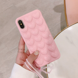 Carcasa Bubble Heart Rose para iPhone XR