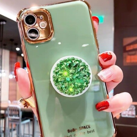 Carcasa Support en diamant green  para iPhone 11 Pro Max