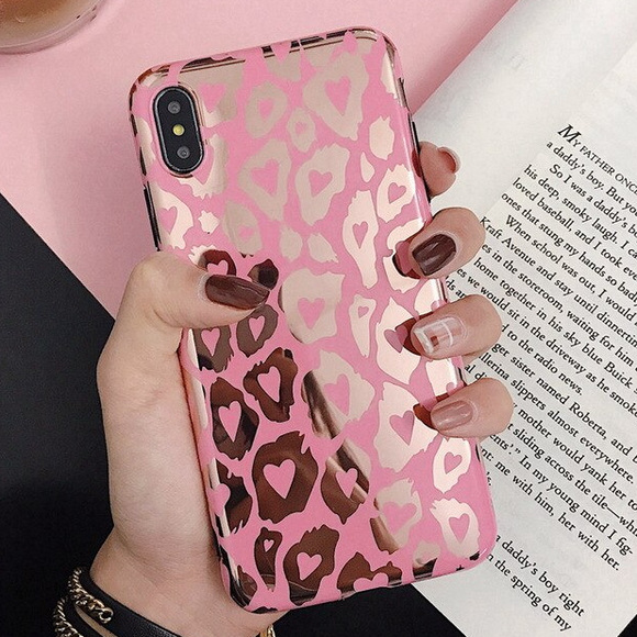 Carcasa Leopard Rose para iPhone XS Max