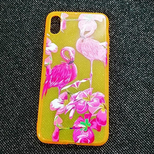 Carcasa Fluorescente Flamenco para iPhone XS Max